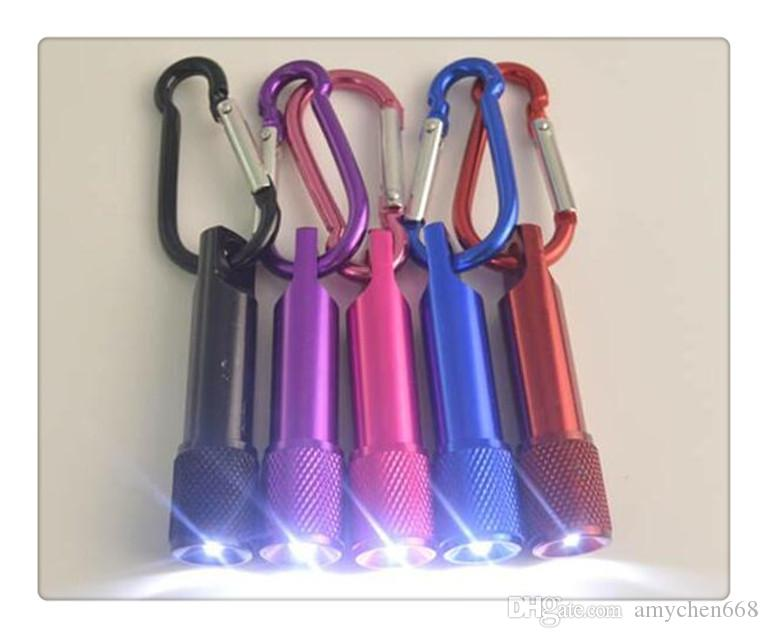 LED Mini Flashlight Torch with Carabiner Key Chain Keychains laser pointer flashlight mini 3 in1 Key chain Lighting Emergency Keychain Money