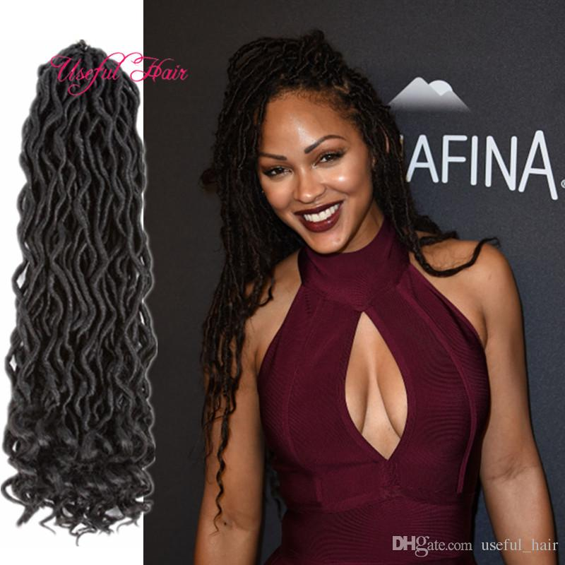 2018 Goddess Locs Hair Fashion 18inch Crochet Hair Extensions