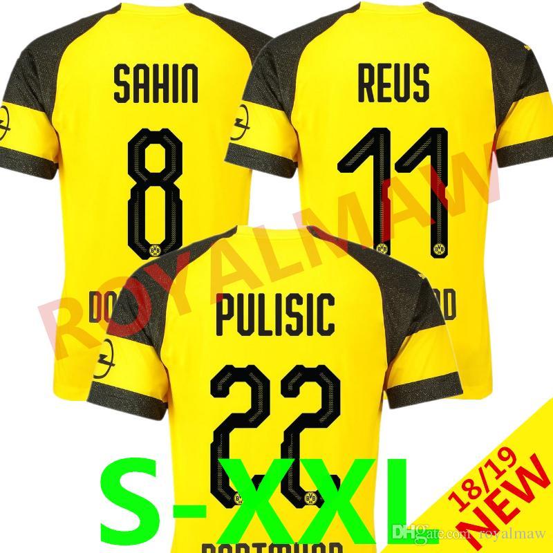 2019 Dortmund Jersey 18 19 Top Thailand Soccer Trikot BVB HOME REUS ... 7be2b2e41