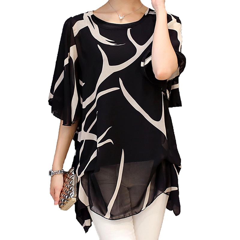 10db43aae55 2019 2018 Large Size4XL5XL Blouse Women Short Sleeve Women S Chiffon Blouse  Plus Size Kimono Shirt Women Blousees L 116 From Fabian05