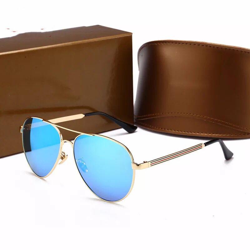 2018 occhiali da sole firmati di alta qualità uomo moda montatura in metallo uomo occhiali polarizzati guidare occhiali da sole da viaggio con scatola originale
