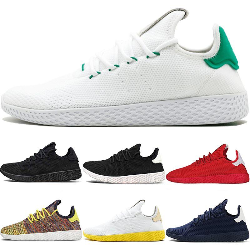 d0d8198e380ff 2019 Stan Smith Tennis HU Men Women Running Shoes Pharrell Williams OG  Multi Color Black White Oreo Blue Red Runner Sport Sneaker Size 36 45 From  ...