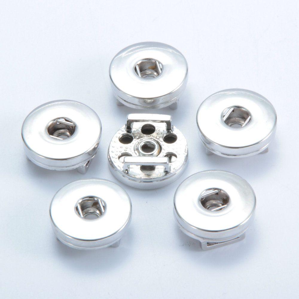 Base bottoni automatici 4 Stili 18 MM orecchini a bottone con bottone a scatto Ginger DIY. Accessorio gioielli