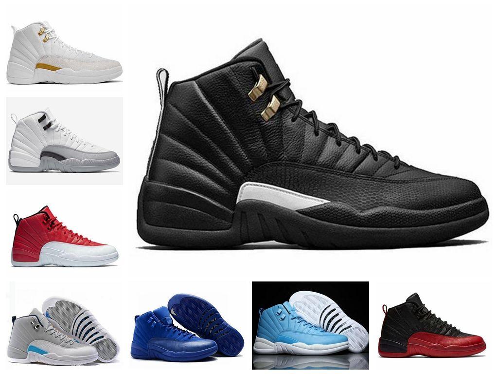 59f063a618ed2 Compre Nike Air Jordan 12 Ovo Retro Zapatillas De Baloncesto Al Por Mayor Zapatillas  De Deporte Baratas Descuento Running Sneakers Mujeres Hombres Ciclismo ...