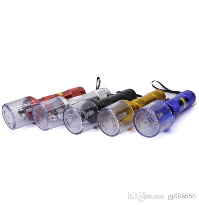 Satış Stili Elektrikli TOBACCO GRINDER El Feneri Alüminyum Alaşımlı Değirmeni Sigara Makinesi