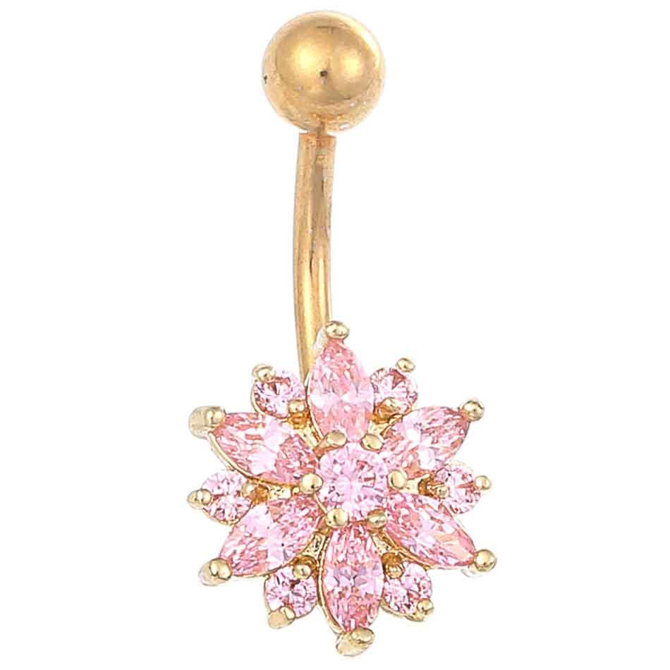 di alta qualità in acciaio medico cristallo strass anello ombelico ciondola ombelico gioielli corpo piercing nappa