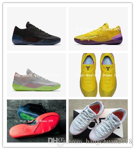 the latest 5ba48 beee4 2018 New Arrive Kobe A.D. NXT 360 Yellow Strike Mamba Day Multicolor Mens  Basketball Shoes Low Weaving 12 Wolf Sports Sneakers Size 40 46 Designer  Shoes ...