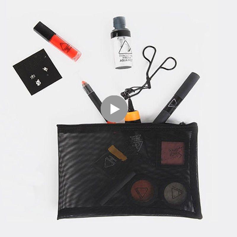 e8c52302f0 Fashion Transparent Small Cosmetic Bag Women Travel Zipper Make Up Case  Organizer Storage Makeup Pouch Toiletry Beauty Wash Kit