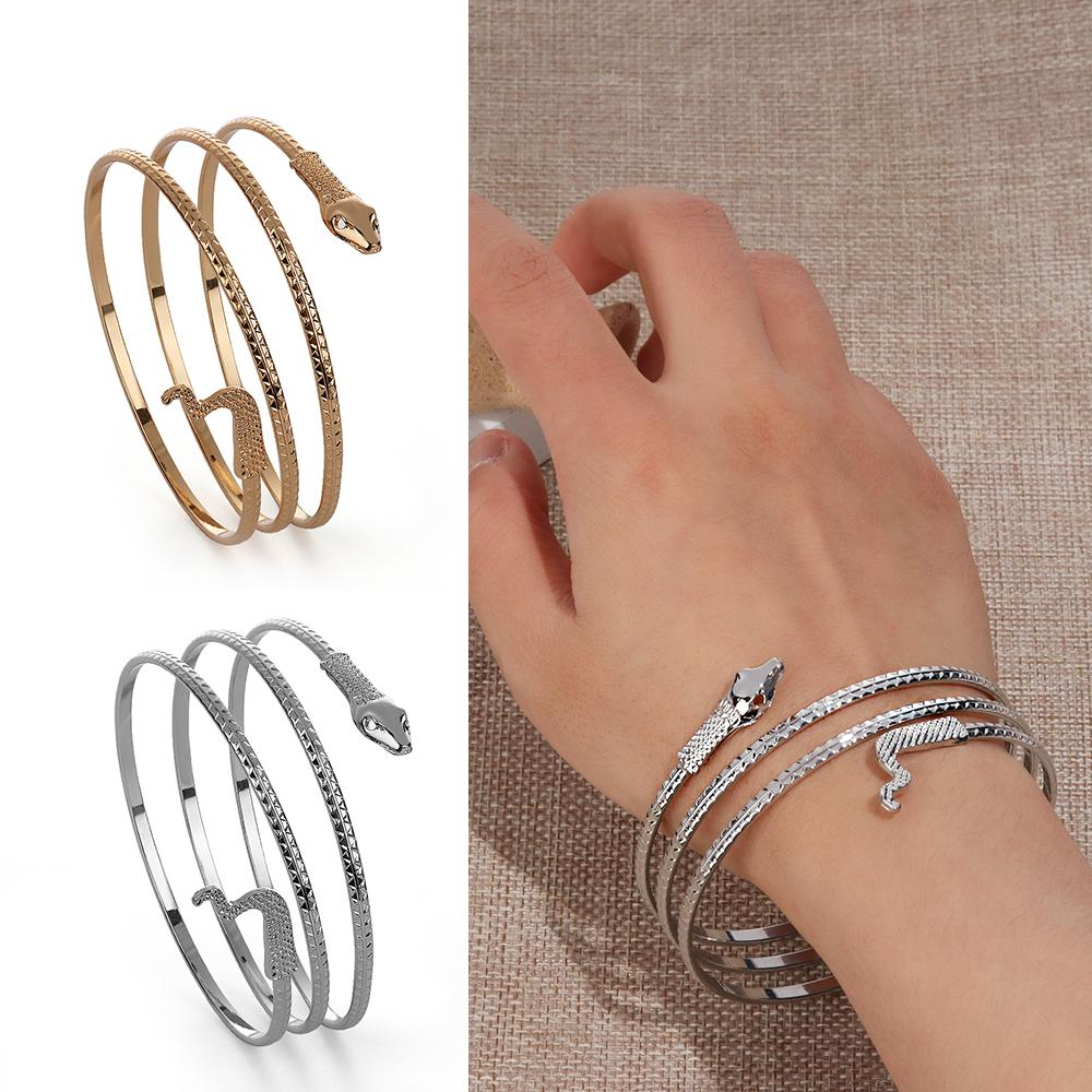 a6a48bb7091 New Arrival Coiled Snake Bracelet Spiral Upper Arm Cuff Armlet Armband  Bangle Punk Bracelet Jewelry Create Your Own Charm Bracelet Charms For  Bracelets Uk ...