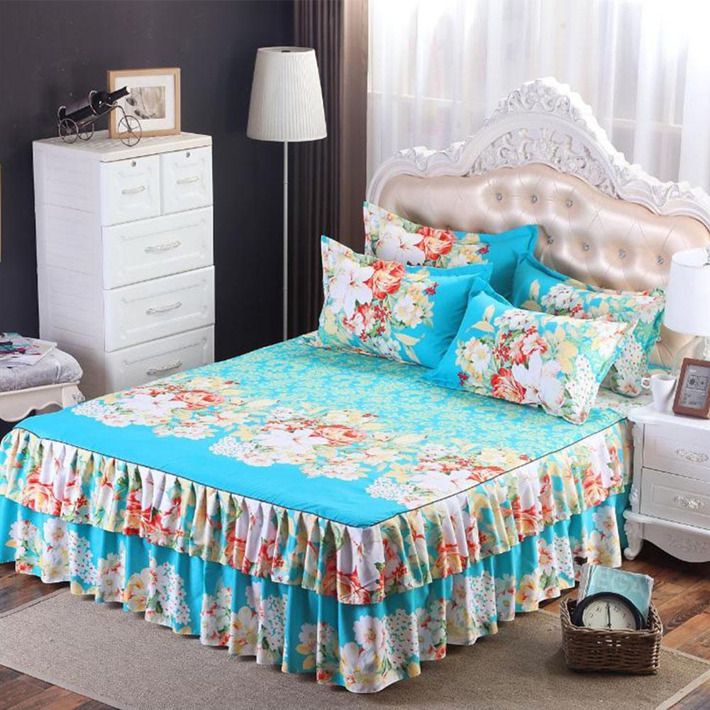 Asypets Floral Fitted Sheet Cover Graceful Bedspread Laced Fitted