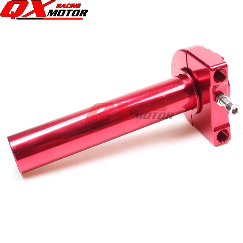 CNC Aluminum Anodized Red Throttle Grips Settle twist gas throttle handle For Gy6 Scooter Motorcycle Modified Free shipping