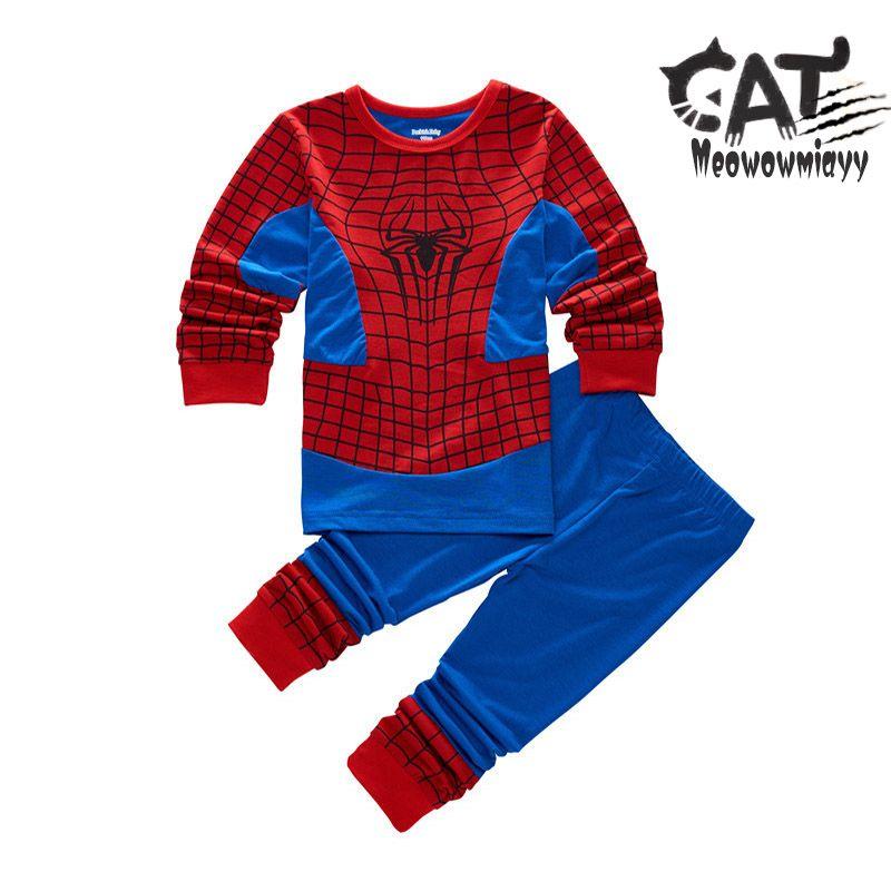 d532f288ef Spiderman Pijama 2017 Autumn  Winter Kids Clothes Long Sleeve Superhero  Spdierman Sleepwear Unicorn Pajamas For Boys Pyjamas Kids UK 2019 From  Roohua