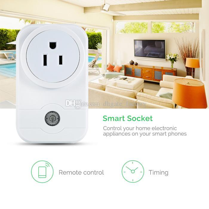 Venta caliente Smart Power Plug Adaptador de Banda Portátil Mini Smart Wifi Socket Control Remoto Inteligente Dispositivo Inteligente EE. UU.