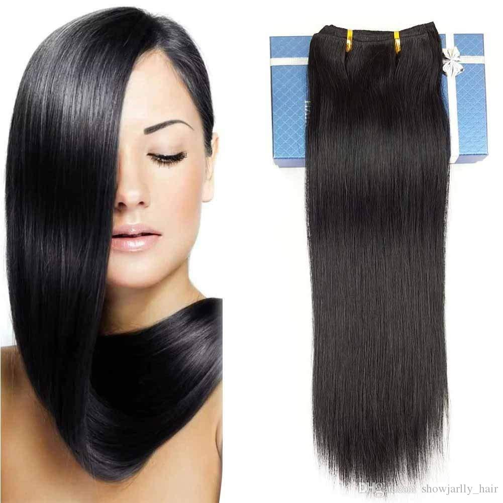 Double Weft 100 Remy Human Hair Clip In Extensions 14 24 Grade