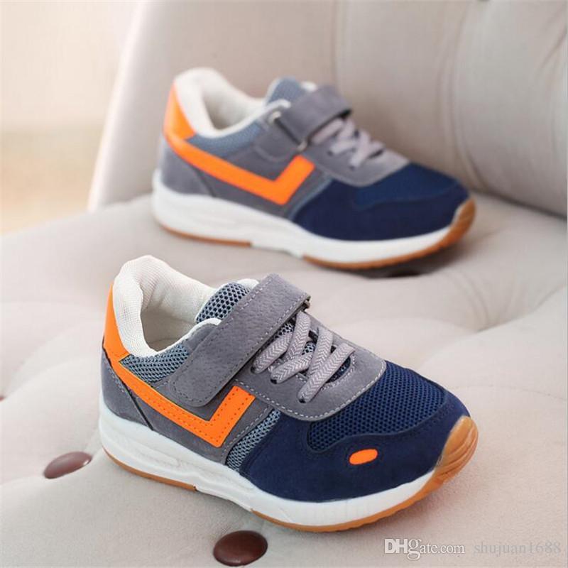 85e1d1c620f Compre Zapatos Para Niños New Boys Primavera Otoño Zapatos Casuales Niños  Zapatillas Respirables Zapatos De Bebé Super Light Sport Niños Zapatillas A   18.54 ...