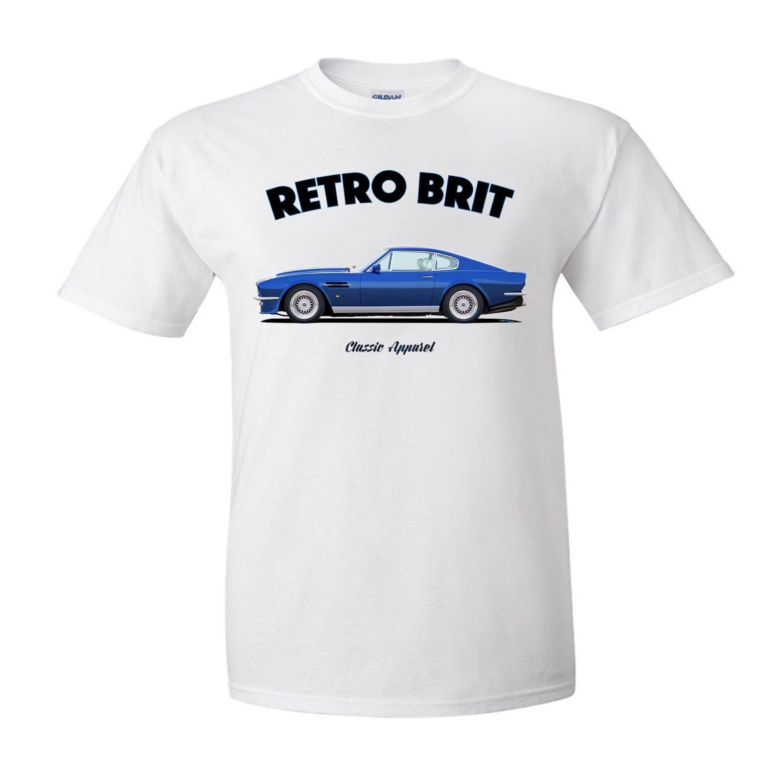 Aston Martin Dbs Vantage Volante T Shirt Retro Brit Classic Car - Aston martin apparel