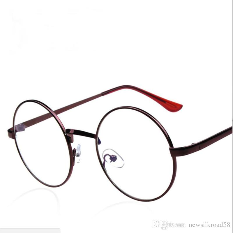 e1c34f69a12 Vintage Round Metal Glasses Frame Men Prescription Decorative Myopia Optical  Eye Glasses Clear Lens Glasses Frame Women Spectacle Frame Prescription ...