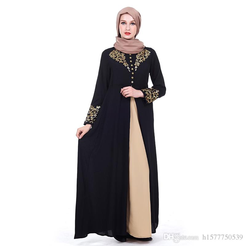 Acquista Medio Oriente Donne Abaya Dubai Kaftan Fiori Musulmani Hot  Stampaggio Abito Abbigliamento Femminile Islamico Abito Turco Musulmane  Abiti Longo ... 77465024479