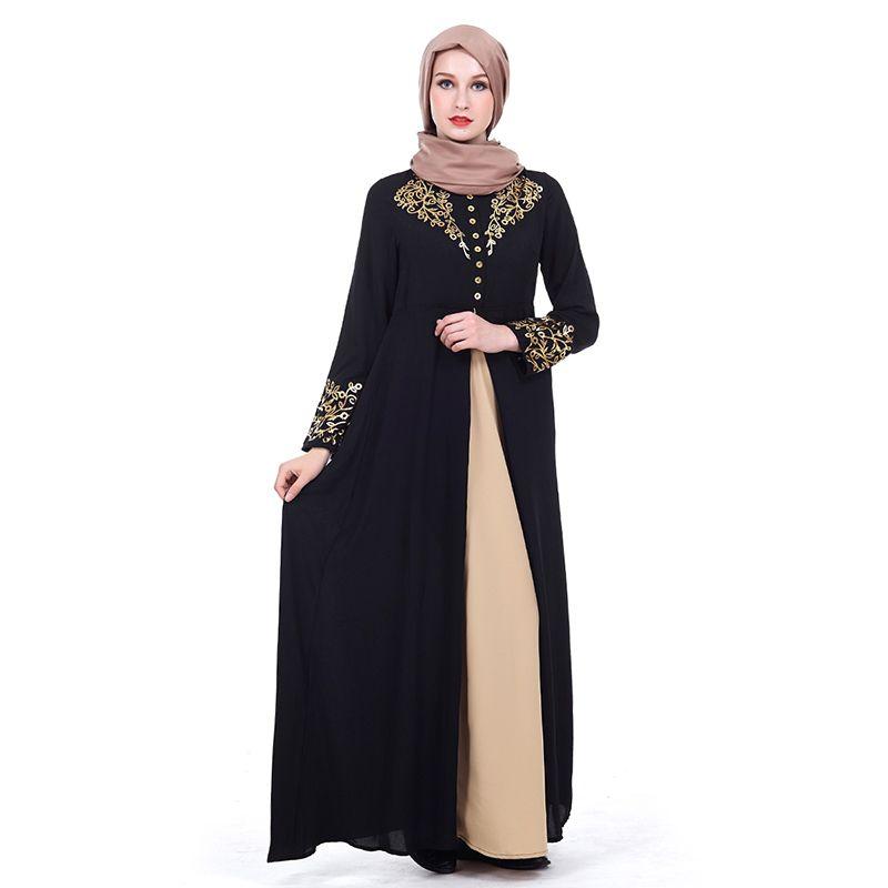Acheter Moyen Orient Femmes Abaya Dubai Kaftan Fleurs Musulmanes Hot  Estampage Robe Islamique Femme Vêtements Robe Turque Musulmane Robes Longo  Giyim De ... 9d56933ea83