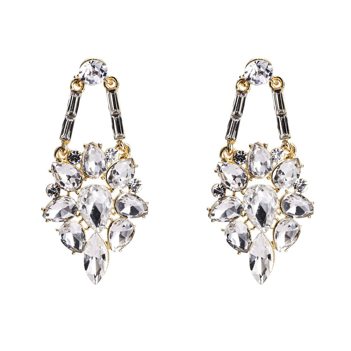 Brincos de borla para as mulheres de luxo boho personalidade Broca de vidro Dangle brincos simples Vintage geométrica moda Jóias atacado 2018