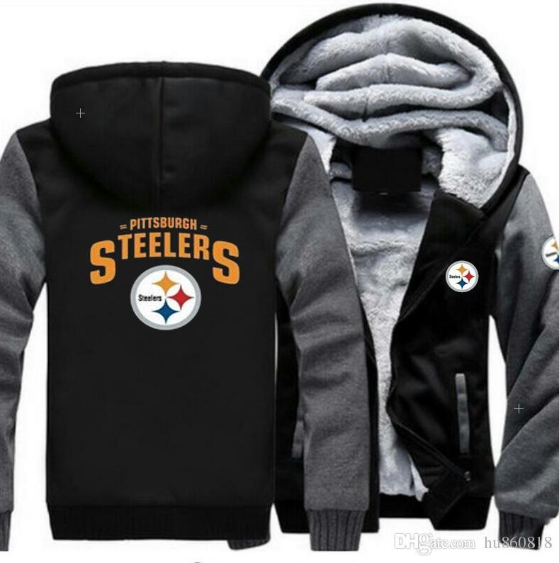 2019 NEW Pittsburgh Steelers Team Sweatshirt Warm Fleece Thicken Jacket  Zipper Coat Hoodie   Sweatshirts Up To Date Jackets From Hu860818 15b1c98c7
