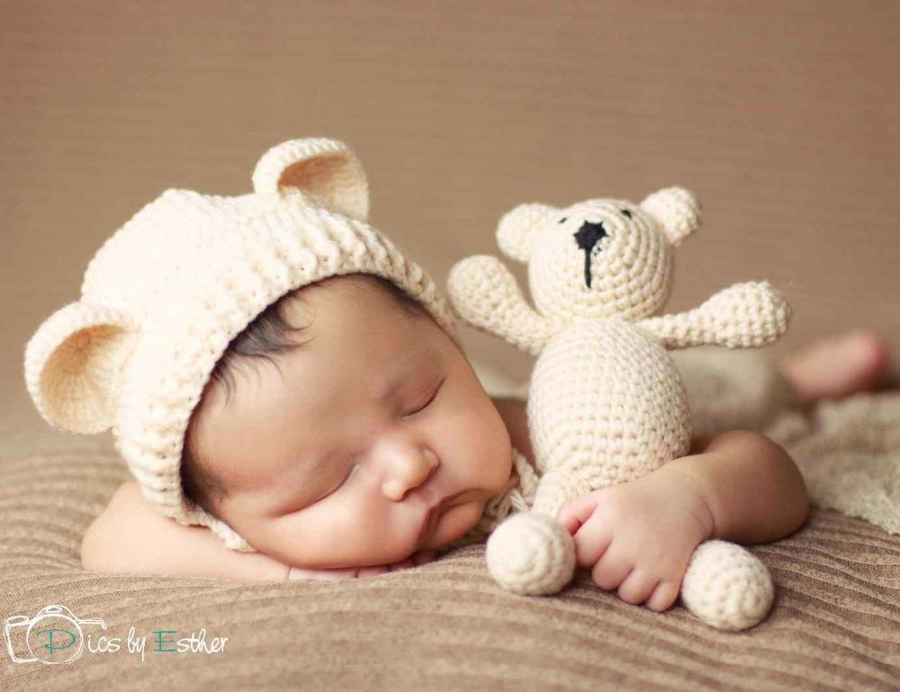 Discount crochet baby hat bear handmade newborn photography props baby cap beanie infantil fotografia accessories p0254 from china dhgate com