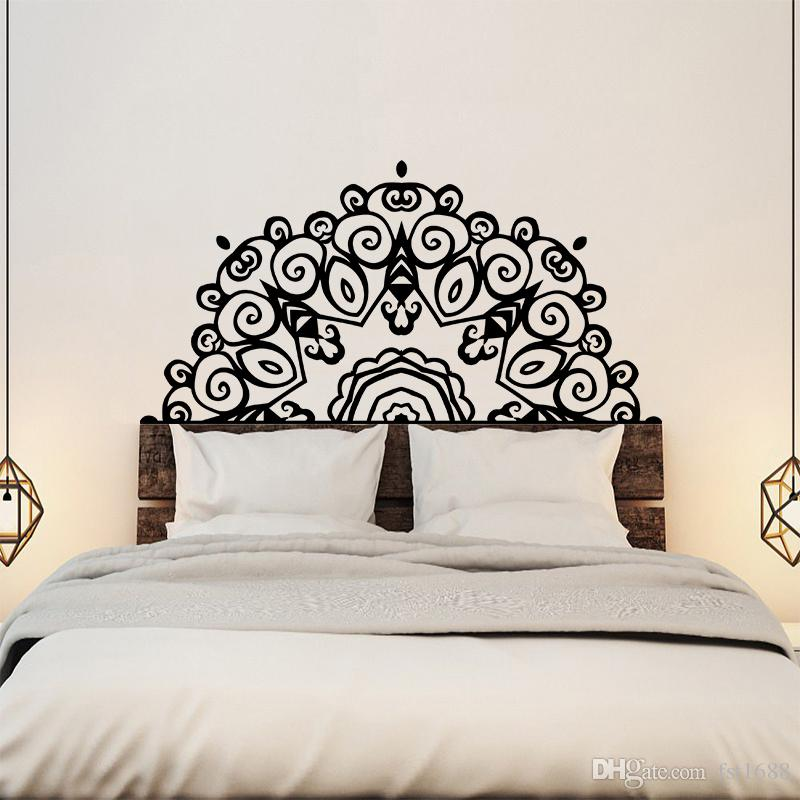 large headboard wall sticker wall mural bed bedside mandala vinyl