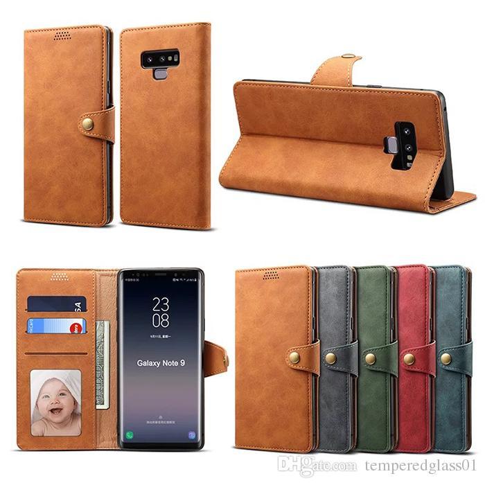 4061c0f3fcf Fundas Para Moviles Personalizadas Funda De Piel De Lujo Para IPhoneXs Funda  Con Tapa Anti Caída Max XR X 8 7plus Funda De Piel Para Samsung Note9  S9plus ...