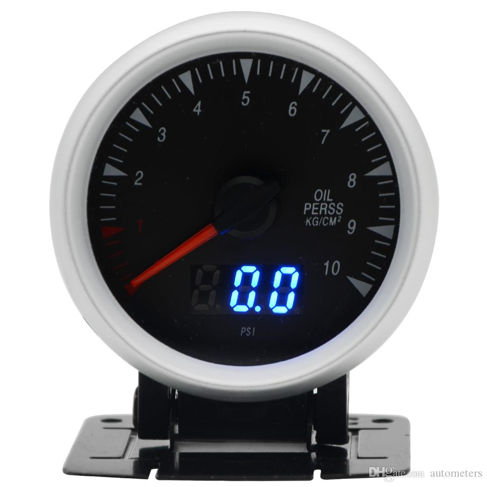 28e909227ee 2.5 Inch 60mm Oil Pressure Gauge Dual Units Digital Analog Display ...