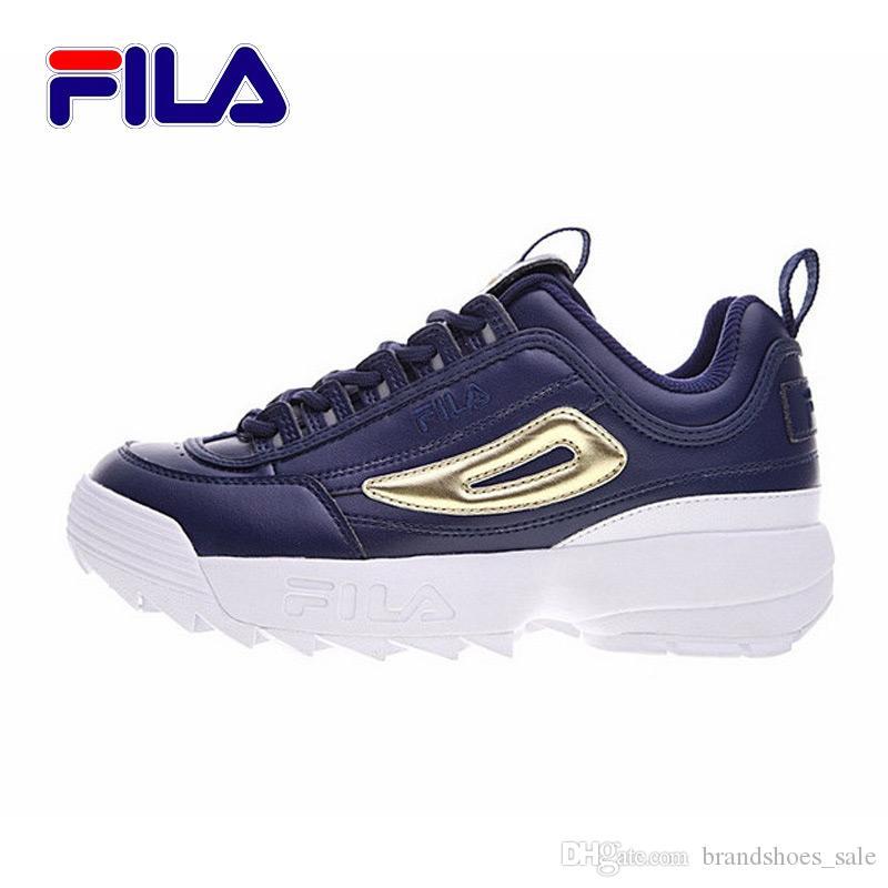 Acquista 2018 Fila II 2 Scarpa Da Running Da Donna Sneaker Grigio Chiaro  Blu Scuro Fondo Spesso Rinforzato Scarpe Da Ginnastica Basse Da Uomo 36 41  A  99.5 ... 9a6048788b0
