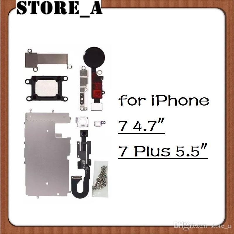 quality design 10f68 65997 For iPhone 7 7 Plus LCD Repair Parts Metal Plate Kit Front Camera Screws  Earpiece Home Button Replacement Repair Parts Set Store_A