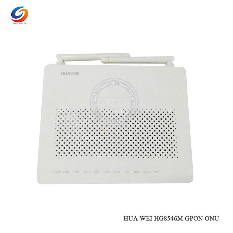 Original Hottest Second-hand Huawei HG8546M GPON Terminal ONU, HGU Route  Mode , 1GE port + 3FE Port+1 telephone + wifi ,Gpon ONT