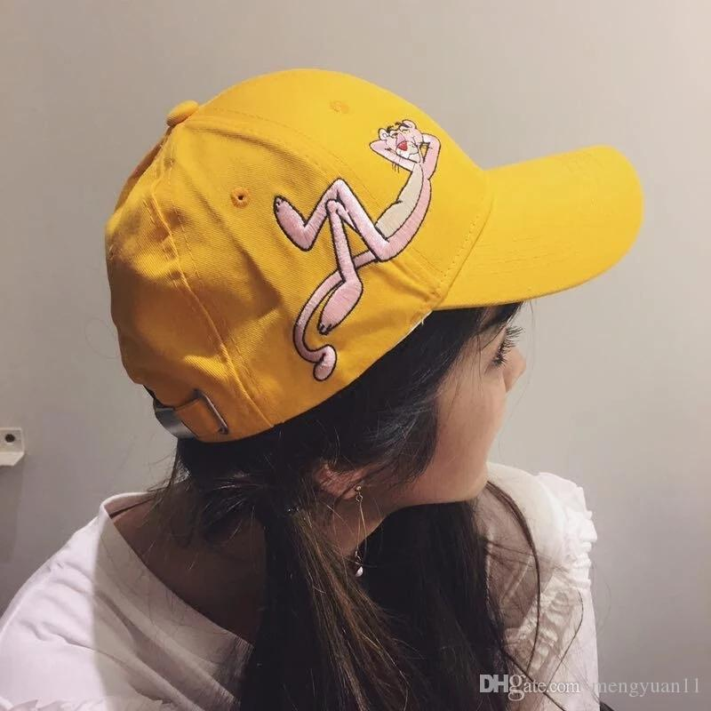764aa2f100f Ulzzang Hat Female Cartoon Pink Panther Fashion Hot Newest Cheap Wholesale  Upsoar Hat Drake Cap Casquette Baby Caps 47 Brand Hats From Mengyuan11