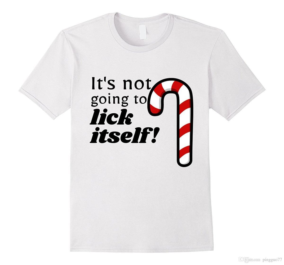 Christmas Adult Funny Candy Cane Lick T Shirt Humor New Funny Brand  Clothing Top TeePrint Tee Shirts Summer Short Shirts With Designs R Shirt  From Lijian59, ...