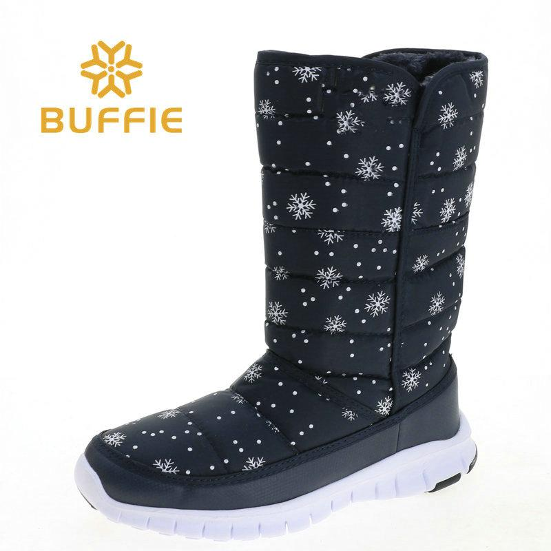 3eab70bea52 High Boots 2018 Winter New Coming Easy Wear Fake Fur Insole Sample Selling  Export Style Design Lady Free Black With Snowflower Winter Boots For Women  ...