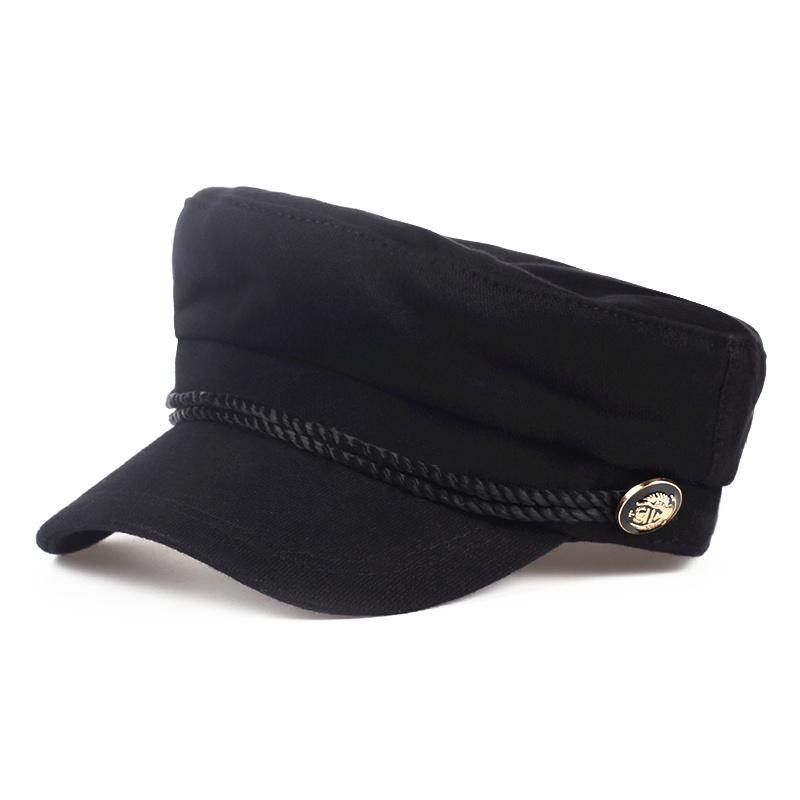 Compre Moda Lana Visera Sólida Sombrero Militar Otoño E Invierno Vintage  Patchwork Casquillo De La Boina Para Mujeres Inglaterra Estilo Tapa Plana A   8.1 ... 363c87988de
