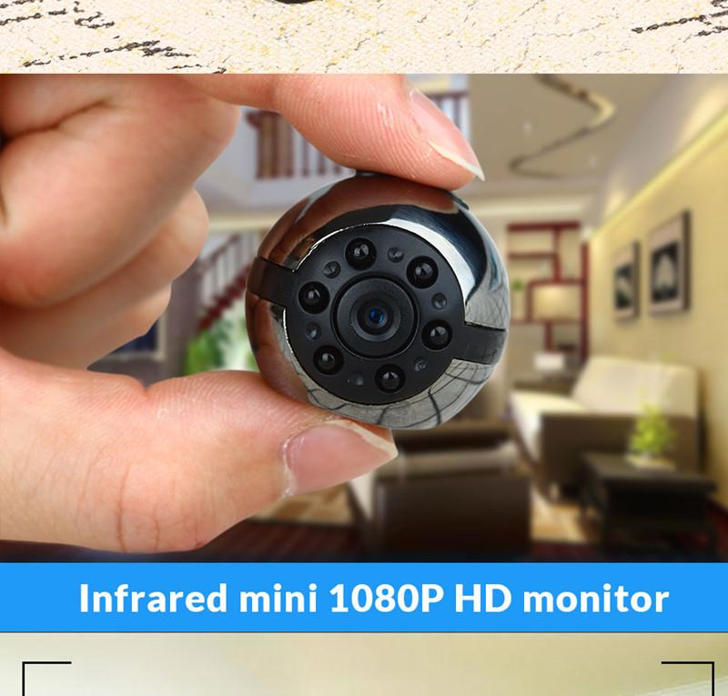 SQ9 Mini HD 1080P Camera DVR DV Sports Night Vision DVR Video Camcorder Mini DV 360 Degree Rotation Voice Video Recorder Infrare