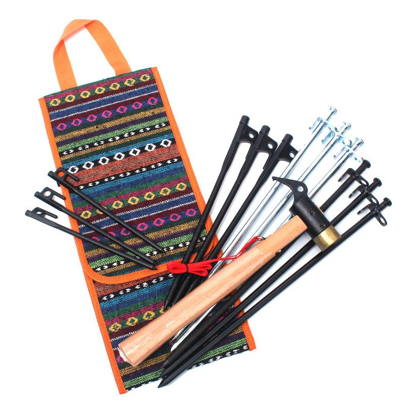 Folk Style Wall Hanging Storage Bag For Hammers Pliers Screwdriver Outdoor Camping Wind Rope Tent Pegs Nail Repairing Tools Kit Bags Holder