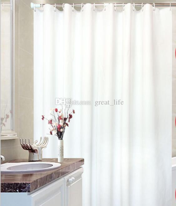 2018 Extra Long Shower Curtain Liner Hotel Quality Mildew Resistant White Tall Spa Bathroom Curtains From Great Life