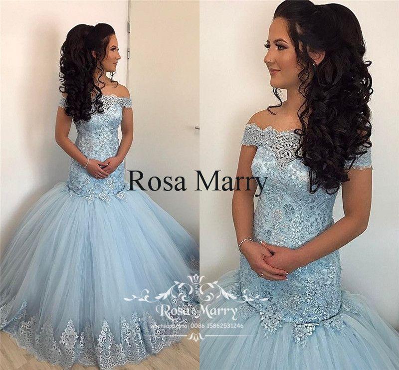2018 Plus Size Mermaid Arabic Prom Dresses Off Shoulder Vintage Lace