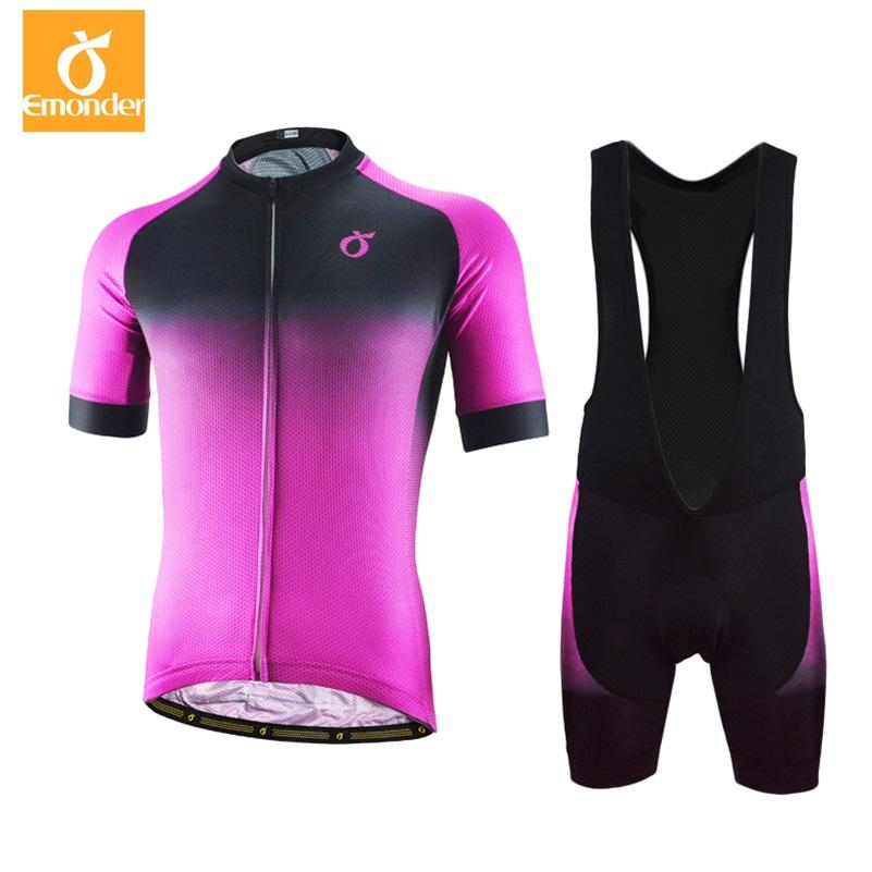 d0c641807 EMONDER Cycling Jersey Set 2018 Mens Tour De France Bicycle Jersey Pro Team  Training Cycling Clothing Maillot Ciclismo Purple Cycling Jersey Sets Bike  ...