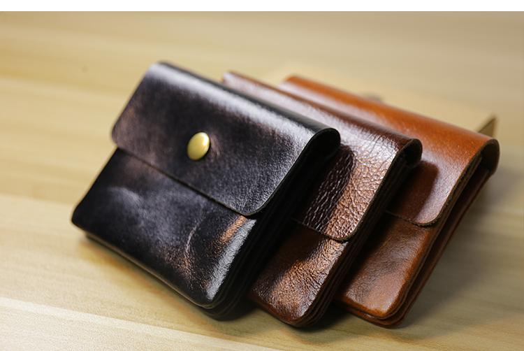 lxtazg handmade genuine leather diy designer wallet for