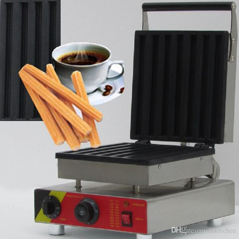 Commercial Use Spanish Churros Makers 7 Moulds Choux Sticks Making Machine Baker Iron Pan Snack Equipment