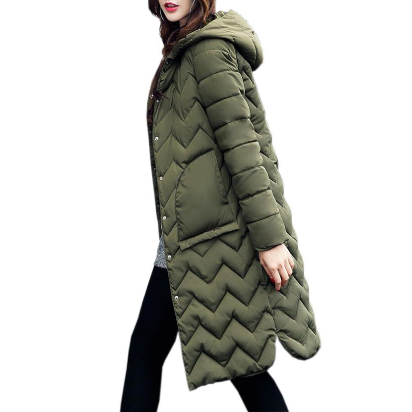 Großhandel Warme Lange Parkas 2XL Frauen Mit Kapuze Mantel Weibliche Mantel  2018 Winter Feminina Schlanke Große Taschen Button Outwear Parka GV940 Von  ... d3a72e6018