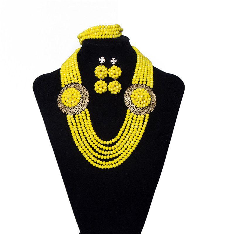 e2505a0f3 AMYNOVA Fashion Orange Crystal Beads Nigerian Wedding Jewelry Set For Women  Traditional African Wedding Bridal Statement Necklace Set Wedding Bands  Pearl ...
