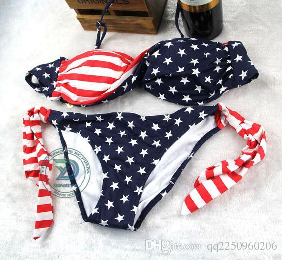 22590e3069b6d 2019 2014 New Plus Size American Flag Pattern Sexy Bikini Swimwear For  Women DYB 029 From Qq2250960206, $23.31 | DHgate.Com