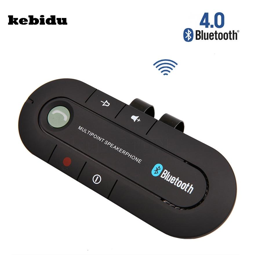 kebidu Bluetooth 4.1 Wireless Handsfree Car Bluetooth Kit Speaker Speakerphone Universal Car Kit for Any