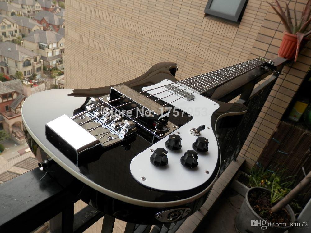 Personalizado de fábrica 2015 Mais Novo Personalizado Agradável preto Bass Guitar 4 Cordas 4003 Rick Elétrico Baixo Em Estoque 315