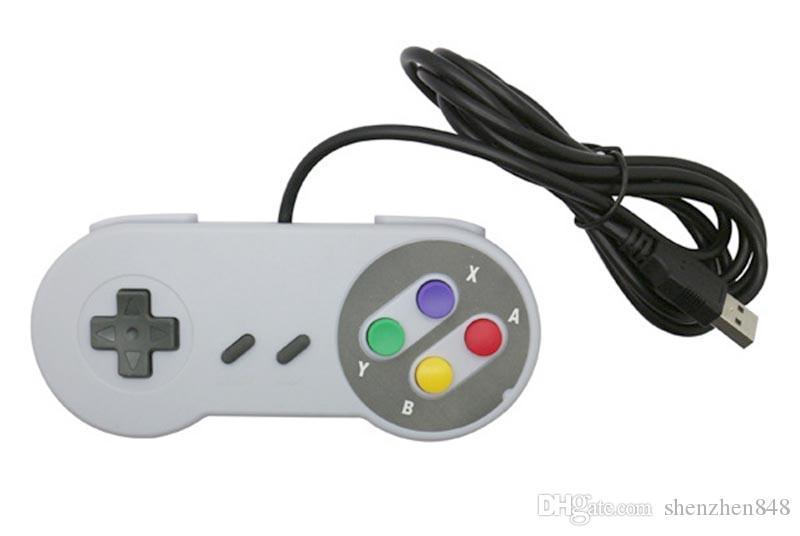 Nostalgischer Griff USB-Controller PC-Controller Gamepad Joypad Joystick-Ersatz für Super Mini SFC SNES NES Tablet PC
