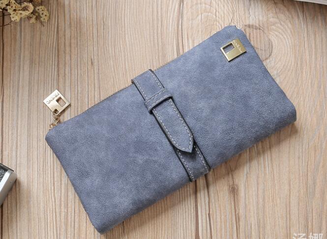 Explosive models card bag Korean version Retro scrub Women's long wallet Multi-card ladies wallet Fashion handbags for girls